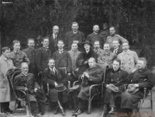 Wielony Łotwa , Edward Bronicz czwarty z lewej strony w drugim rzędzie