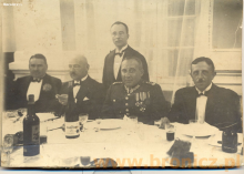 Absolwenci Zasadniczej Szkoły Zawodowej, koniec lat czterdziestych, pierwszy z prawej Ireneusz Panfil