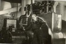 Mó j tata Alfred Bronicz Elektrociepłownia w fabryce jedwabiu w Chodakowie